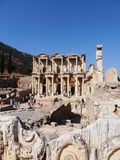 Ephesus, Turkey. View of the Library in Ephesus Royalty Free Stock Image