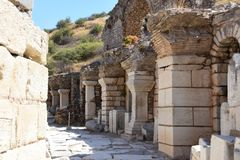 Ephesus, Turkije stock afbeelding