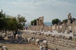 EPHESUS, TURQUIE - 19 AOÛT 2018 : La ville antique d'Ephesus est visitée par des milliers de touristes chaque année image libre de droits