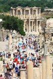 Ephesus und die Bibliothek von Celsus Stockbilder