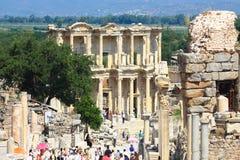 Ephesus und die Bibliothek von Celsus Lizenzfreies Stockfoto
