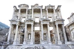 Ephesus in the UNESCO World Heritage List. Ephesus ancient city Ephesus which was established as a port, was used to be the most important commercial centre royalty free stock image