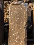 Ephesus the UNESCO World Heritage Site. Selcuk, Izmir, Turkey - September 13, 2016: Book stone of Ephesus or Efes the popuplar ancient city royalty free stock images