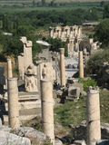 Ephesus. View of the ruins at Ephesus in Turkey Royalty Free Stock Photos