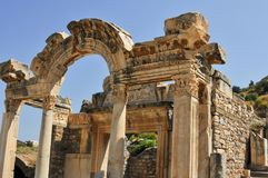 Ephesus, in the current province of Izmir, Turkey. Ephesus was an ancient Greek city in the current province of Izmir, Turkey, built in the 10th century BC royalty free stock photo
