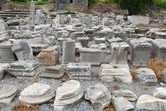 Ephesusoverblijfselen royalty-vrije stock fotografie
