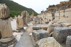Ephesusoverblijfselen stock foto's