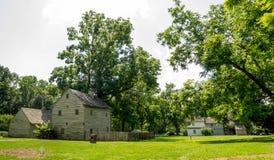 Ephrata修道院历史建筑在兰开斯特县,宾夕法尼亚 免版税库存照片