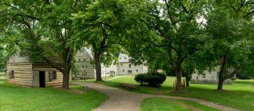 Ephrata修道院历史建筑在兰开斯特县,宾夕法尼亚 免版税图库摄影