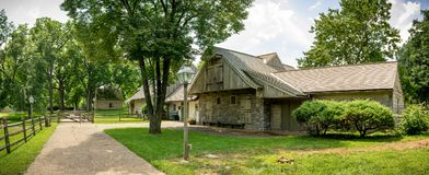 Ephrata修道院历史建筑在兰开斯特县,宾夕法尼亚 库存照片