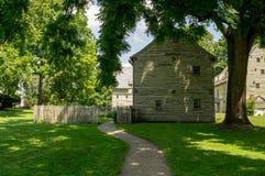 Ephrata klosterhistoriska byggnader i Lancaster County, Pennsylvania Royaltyfri Fotografi