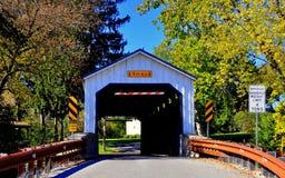 Ephrata, PA: Keller's Mill Covered Bridge Stock Images