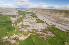 Epic Aerial view of the beautiful Irish countryside nature. Stock Image