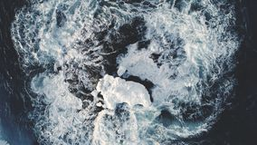 Epic antarctica ocean water surf wave aerial view