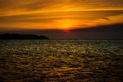 Epic Autumn Island Sunset Stock Images