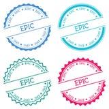 Epic badge isolated on white background. Royalty Free Stock Photo