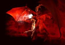 Epic battle. 3d render of epic battle Royalty Free Stock Photo