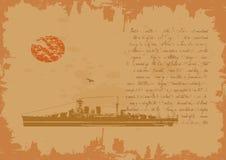 Epic Battleship Story Royalty Free Stock Photography