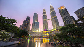 Epic and Beautiful Sunset at Kuala Lumpur City Centre Royalty Free Stock Photos
