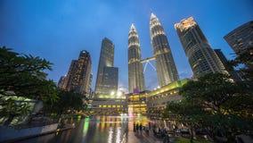Epic and Beautiful Sunset at Kuala Lumpur City Centre Stock Photos