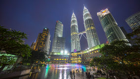Epic and Beautiful Sunset at Kuala Lumpur City Centre Royalty Free Stock Images