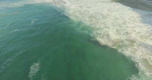 Epic Cliff and Ocean Waves Top View stock video footage