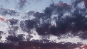 Epic Clouds At Sunset Background Video HD stock footage