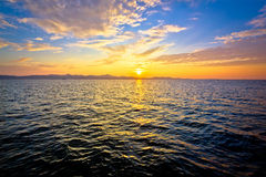 Epic colorful sunset on sea Royalty Free Stock Images