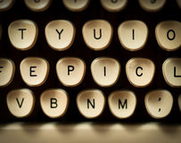 Epic concept. On old typewriter Stock Photography