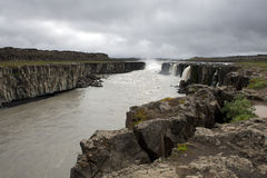 Epic and dark powerful waterfalls, Iceland Royalty Free Stock Image
