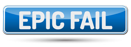 EPIC FAIL - Abstract beautiful button with text. Stock Images