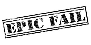 Epic fail black stamp Royalty Free Stock Image