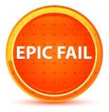 Epic Fail Natural Orange Round Button stock illustration