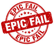epic fail red grunge round vintage stamp Stock Photography
