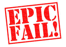 EPIC FAIL!. Red Rubber Stamp over a white background Stock Photo