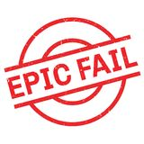 Epic Fail rubber stamp Royalty Free Stock Photography