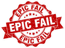 Epic fail stamp Stock Image