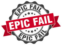 Epic fail stamp Royalty Free Stock Image