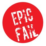 Epic Fail stamp typ. Epic Fail stamp. Typographic label, stamp or logo Stock Photo