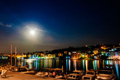 Epic Full Moon Night Scenery Stock Image