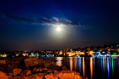 Epic Full Moon Night Scenery Royalty Free Stock Image