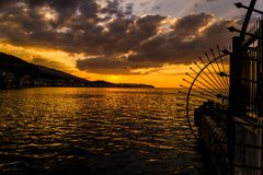 Glorious Golden Sunset Royalty Free Stock Photography