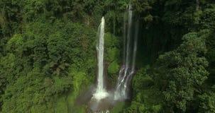 Epic hidden waterfall stock video