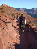 Epic Hike. A band of faithful friends braves the Grand Canyon Royalty Free Stock Images