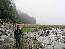 Epic Hike along the West Coast Trail, Vancouver Island, Canada stock images