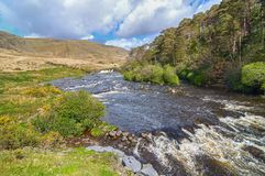 Epic irish rural countryside from county galway along the wild atlantic way. Scenic nature connemara landscape from the west of ireland. epic irish rural stock image