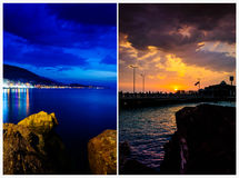 Epic Island Evening And Night Pack Royalty Free Stock Photos
