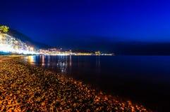 Epic Island Night Scenery Stock Photo