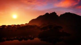 Epic Island Sunset Royalty Free Stock Photo