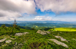 Epic landscape in Carpathian high mountain ridge Royalty Free Stock Photography